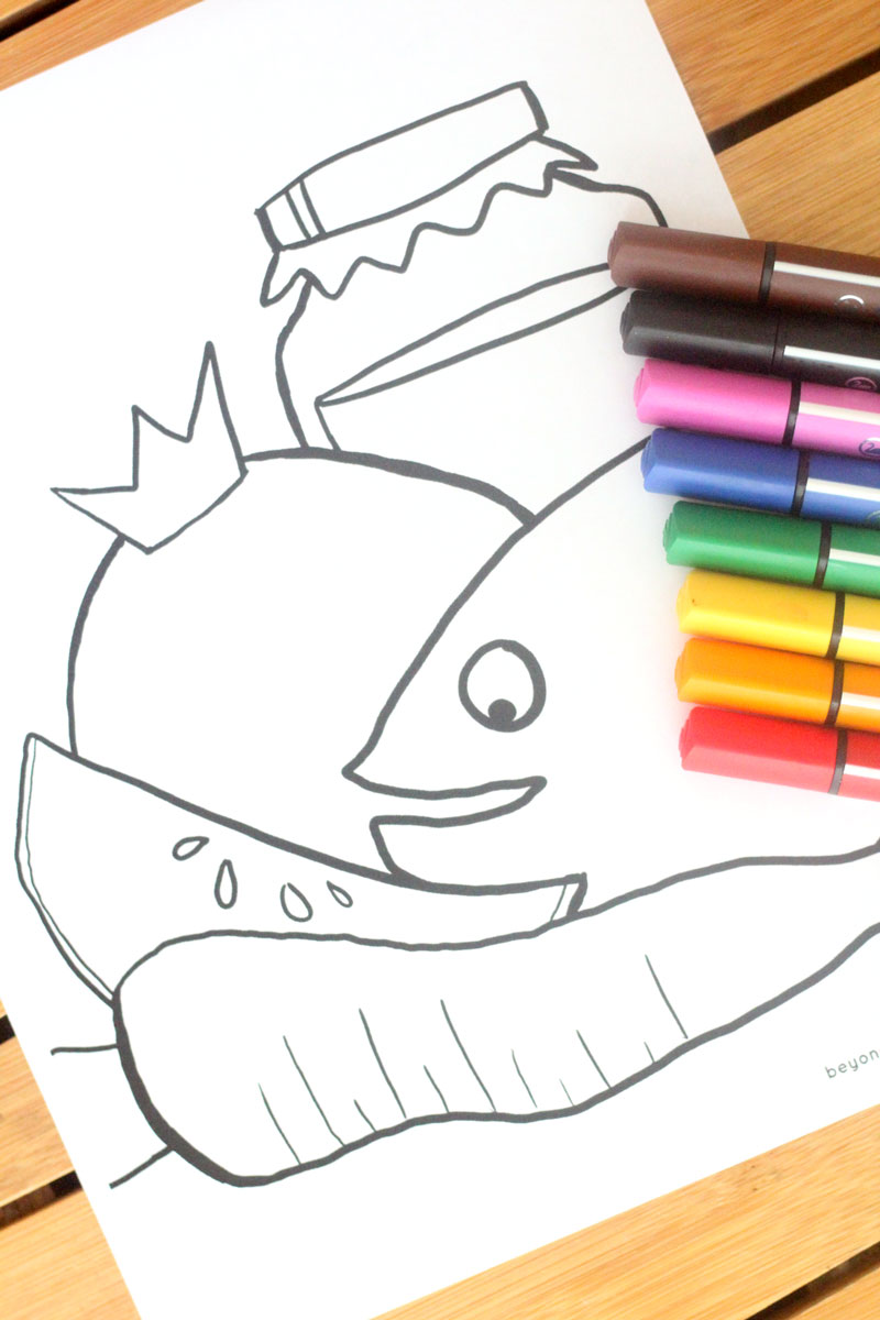 rosh hashanah coloring page beyond the balagan