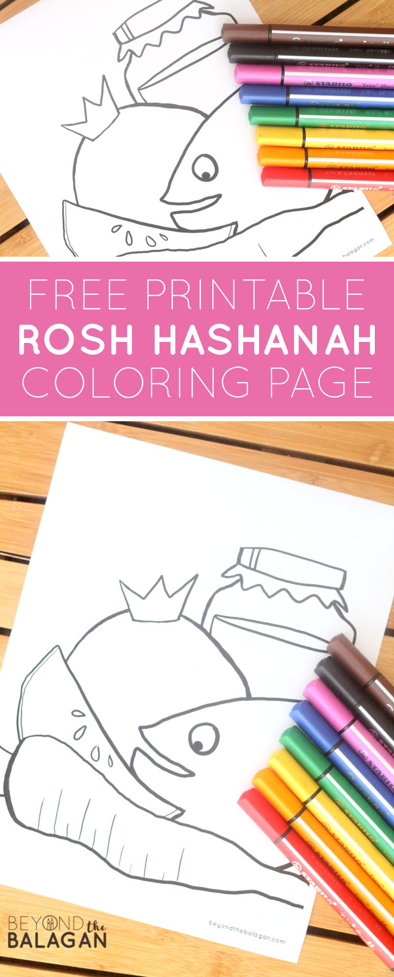 Download And Print This Free Printable Rosh Hashanah Coloring Page