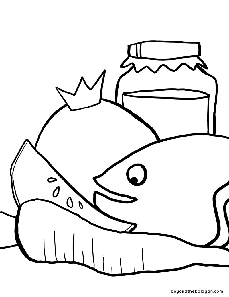 picture about Rosh Hashanah Coloring Pages Printable titled Rosh Hashanah Coloring Web page - Jewish Mothers Crafters