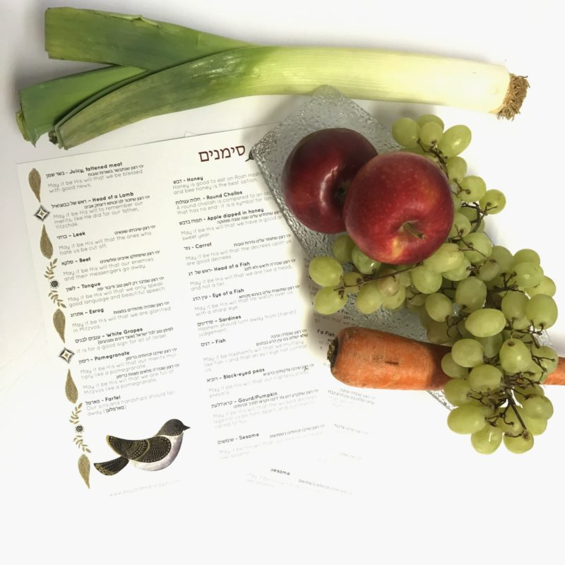 This printable with unique simanim will complete your Rosh Hashanah. The Simanim printable showcases symbolic foods are eaten on the Jewish New Year.