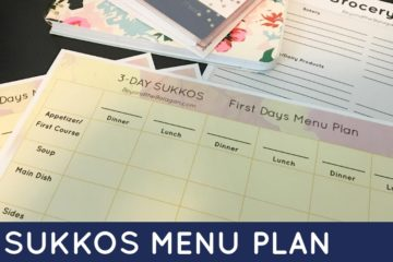 Get your Sukkos menu plan ready with this free printable! This Sukkos menu plan will help you organize and plan a beautiful Yom Tov.