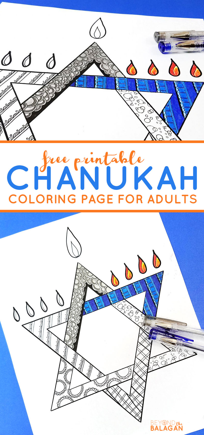 Chanukah Coloring Page for Adults - Beyond the Balagan