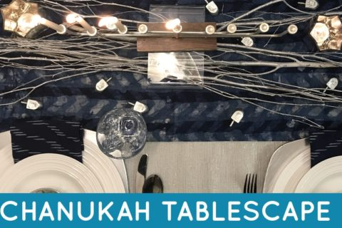 This Chanukah tablescape is the perfect setting for an intimate family dinner. See how all the perfect decor comes together to create a perfect Chanukah tablescape.