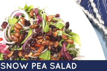 This crunchy snow pea salad will be a showstopper on your table! Try this delicious crunchy snow pea salad today!