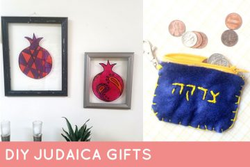 These super easy DIY Jewish gifts are perfect for Hanukkah or Chanukah gifts - or for year round! You'll love these DIY Judaica crafts for the whole family. #diy #Judaica #Hanukkah #chanukah