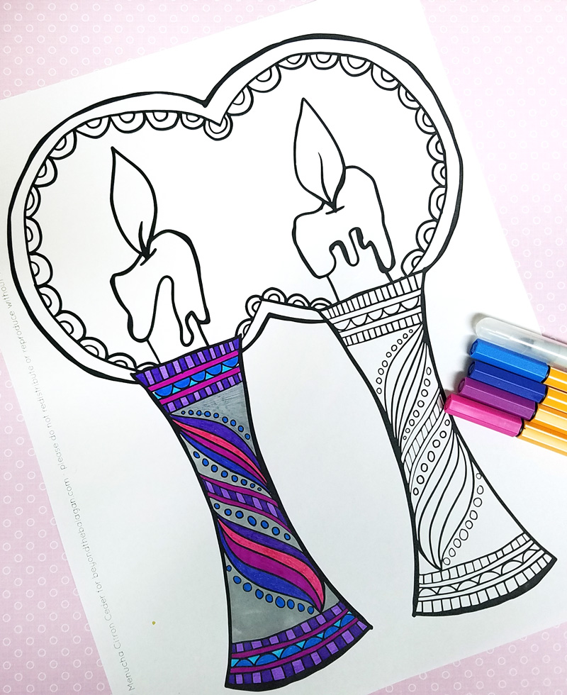 download this free printable shabbat coloring page for adults big kids or teens take a