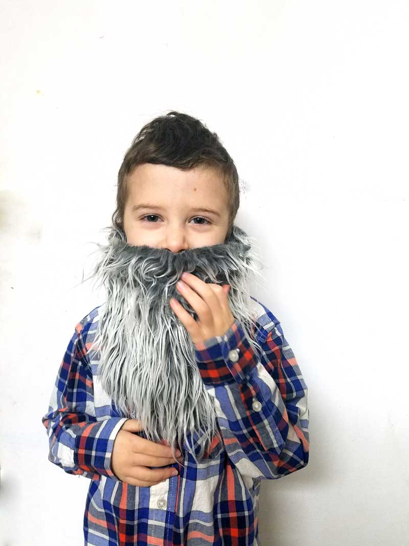 Make this easy DIY fake beard for your kidsu0027 purim costume! This super easy  sc 1 st  Beyond the Balagan & Fake Beard - DIY Costume Beard for Kids - Beyond the Balagan