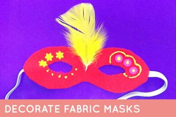 Decorate fabric masks for PUrim - I love this Purim craft because it can be done by little kids, big kids, preschoolers, teens and tweens, and even grown-ups! #purim #teencraft #Jewishcraft