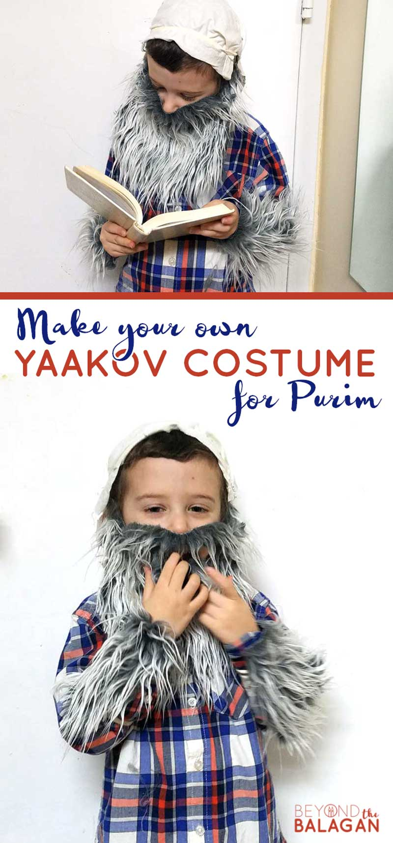 An adorable costume of Yaakov Avinu #jewish #purim #diycostume