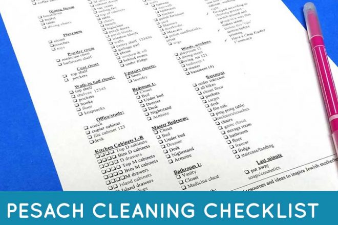 Pesach cleaning checklist feature image
