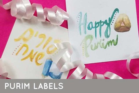 Free printable Purim labels so that you can upgrade your Mishloach Manot packages! #purim