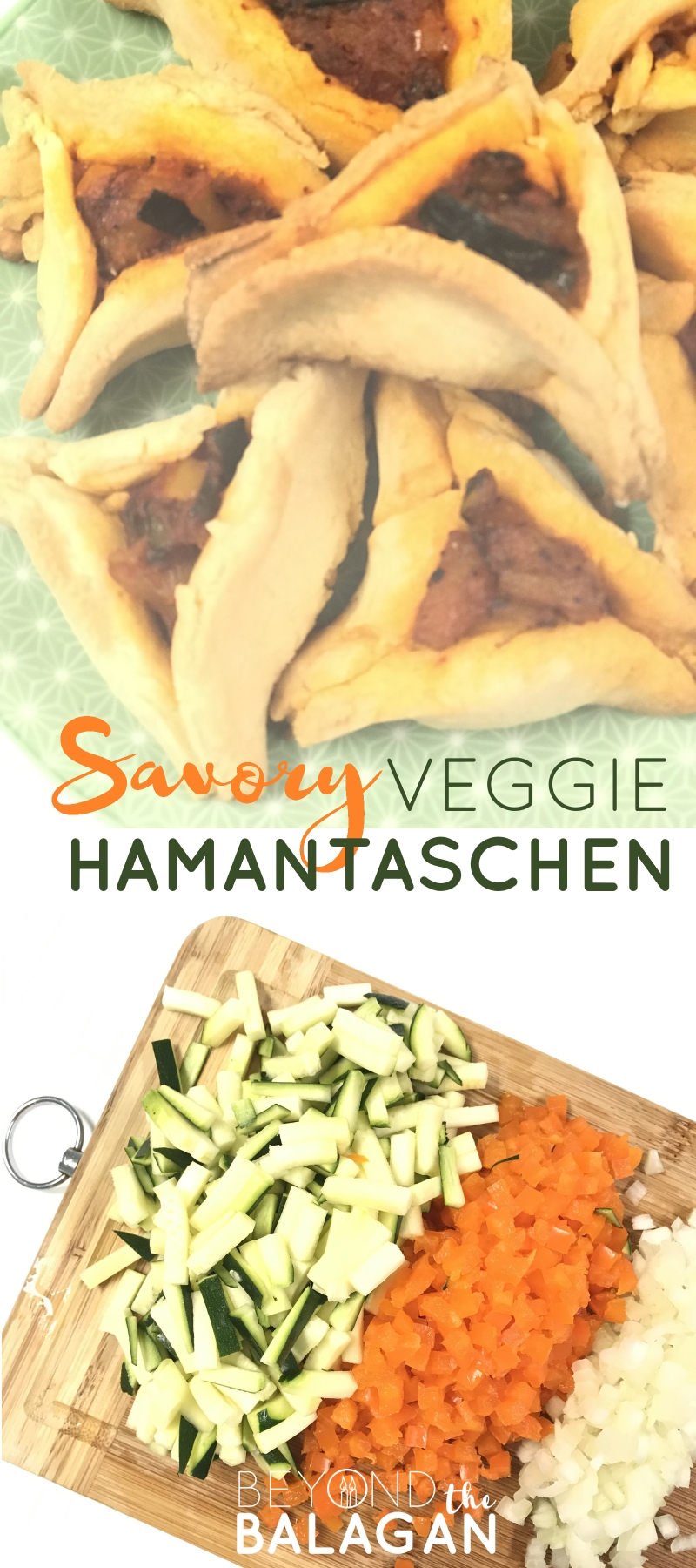 These delicious, savory veggie hamantaschen will make the perfect side dish at your Purim party!
