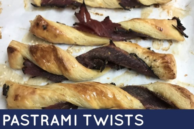 These sticky pastrami twists are delicious and addictive! They'll make a great addition to any meal, and everyone will want more of these sticky pastrami twists. #ShabbatMenu
