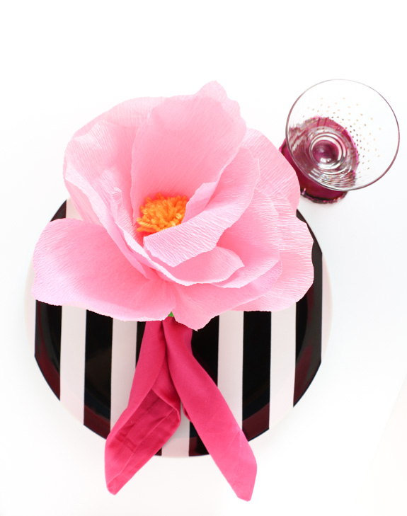 DIY flower napkin rings perfect for Shavuot