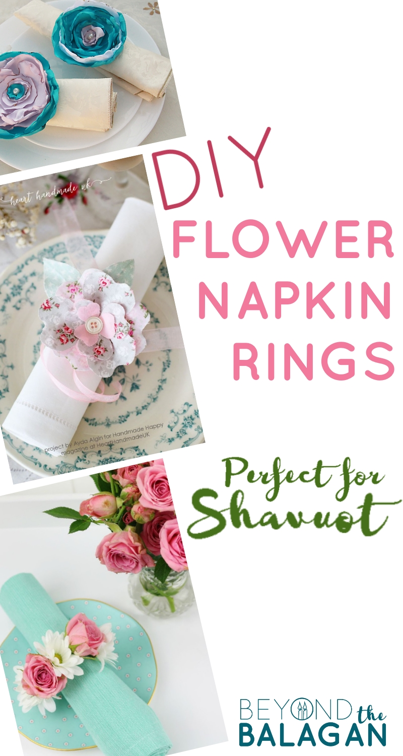 DIY flower napkin rings for shavuot