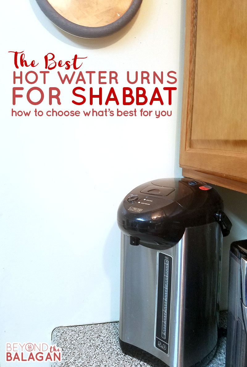 If you're trying to find the best hot water urns for shabbat check out this side-by-side comparison of 3 different options!