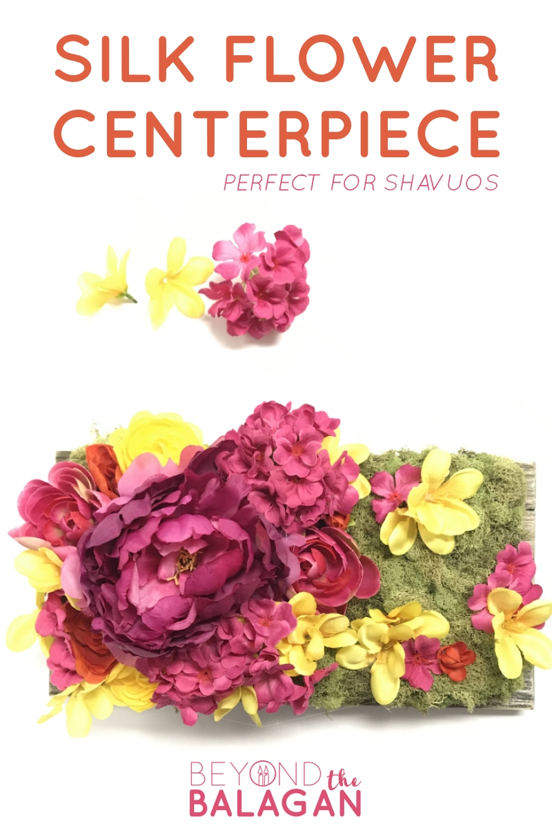 DIY Silk Flower Centerpiece perfect for Shavuot