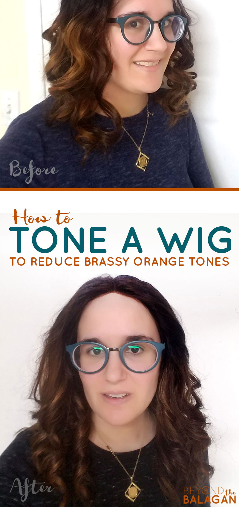 Click to learn how to tone a wig to reduce the brassy orange tones! These tips for wearing and styling a lace wig or sheitel will help you care for it on your own! #wigs #jewishfashion #beauty #lacewig