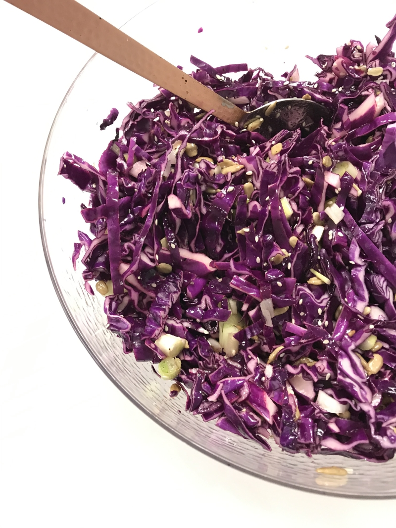 Tangy Marinated Sesame Cabbage Salad