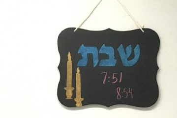 Shabbat Candle-Lighting Times Sign