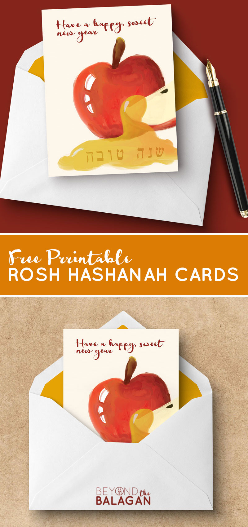 graphic relating to Rosh Hashanah Greeting Cards Printable referred to as Rosh Hashanah Playing cards - Cost-free Printable Greeting Playing cards for the