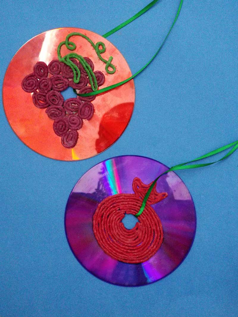 These beautiful upcycled cheap sukkah decorations are fun to craft with kids