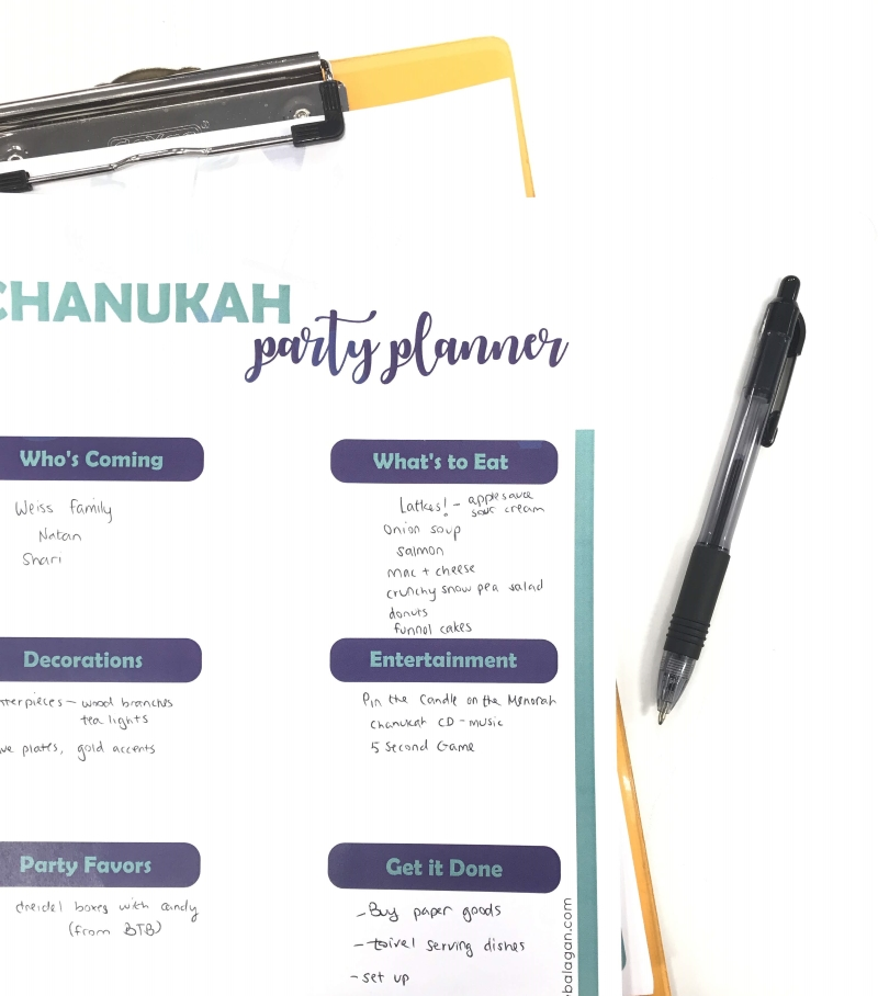 Chanukah Party Planner