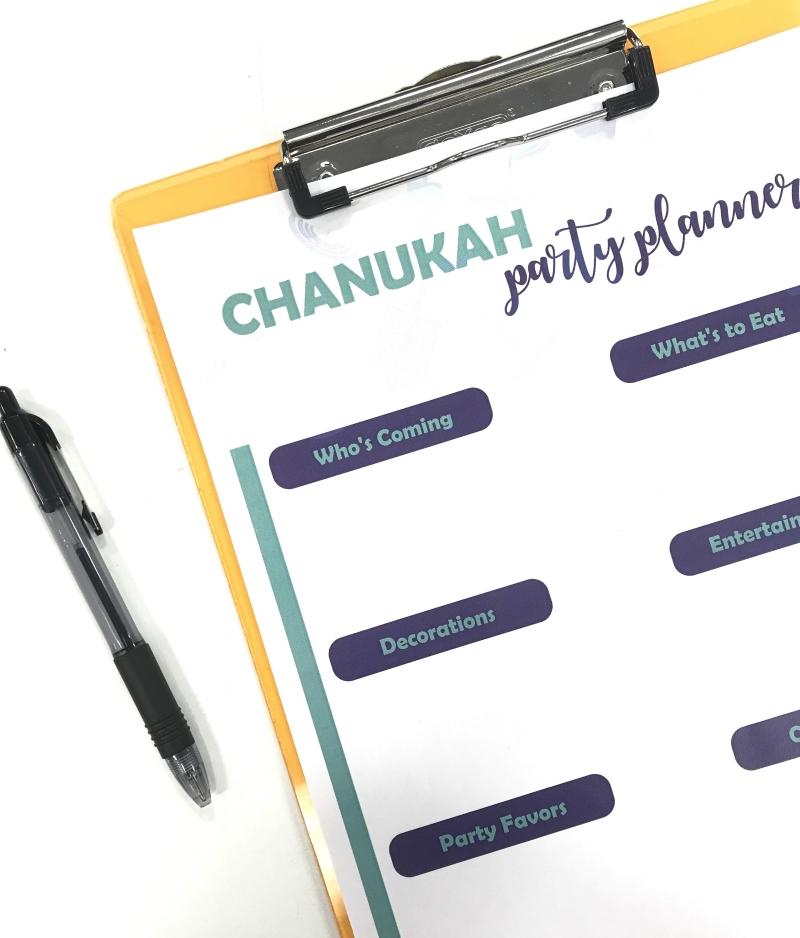 Chanukah Party Planner