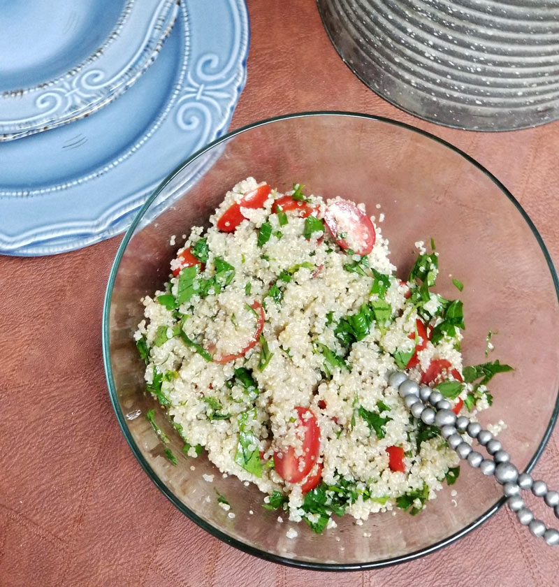 MMMM healthy quinoa tabbouleh salad recipe