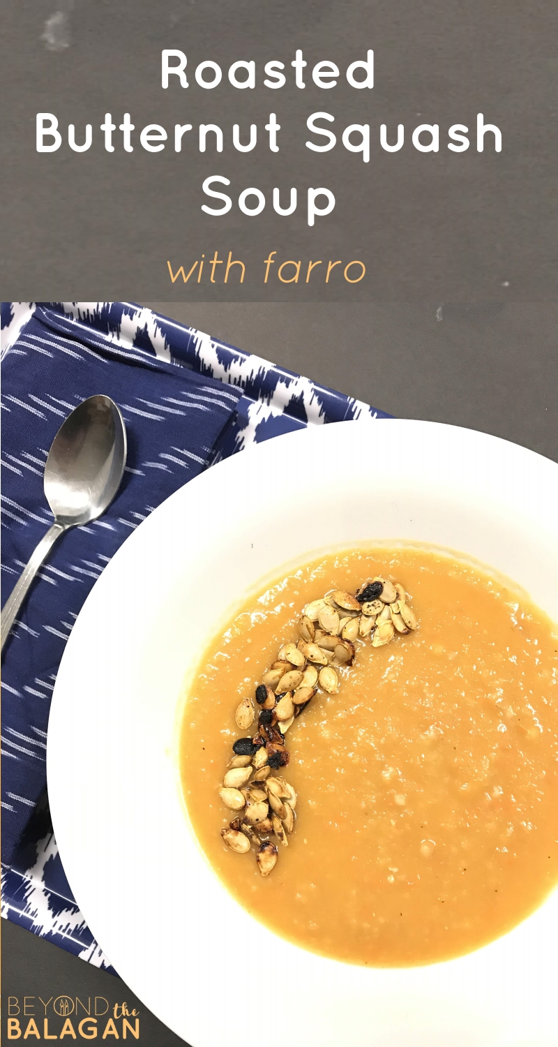 Hearty Roasted Butternut Squash Soup with Farro