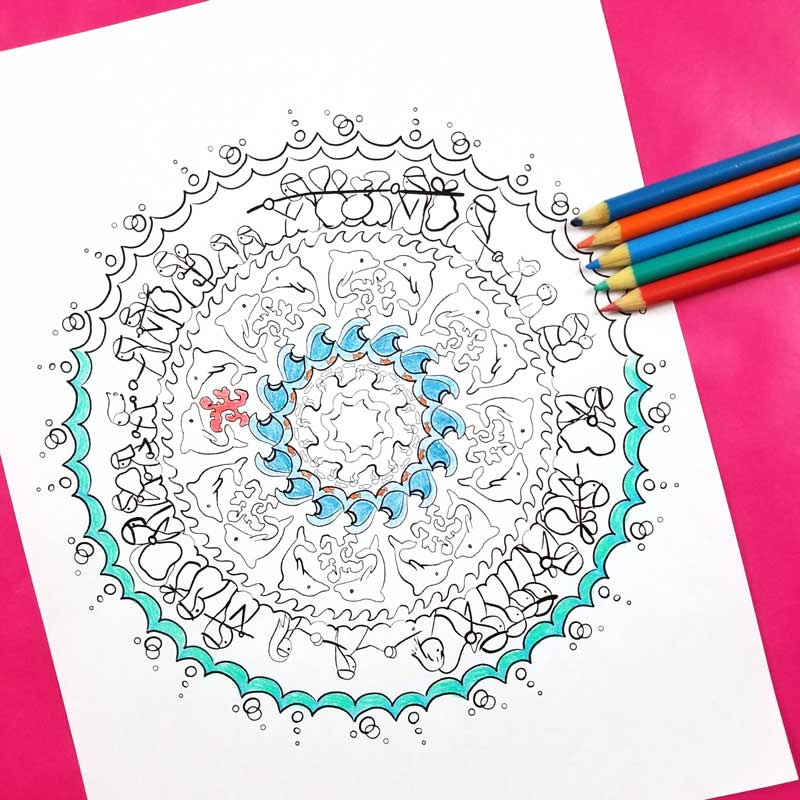 Passover Coloring Page for Adults - free printable - Beyond the Balagan