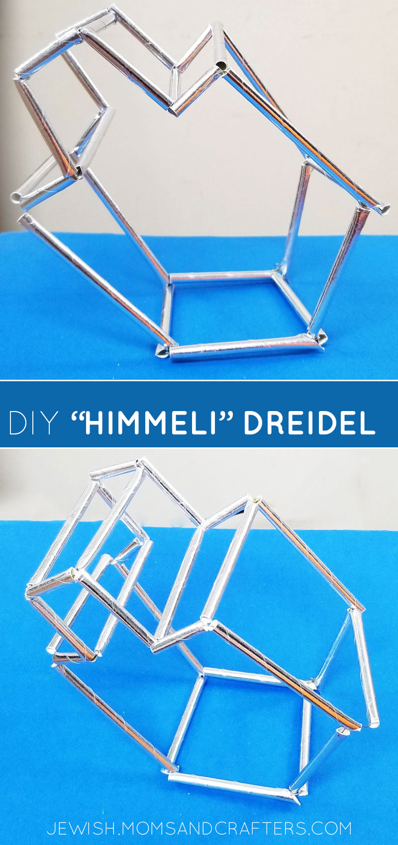 Click to learn how to make this dreidel decoration - a cool Hanukkah craft and chanukah party decoration idea.