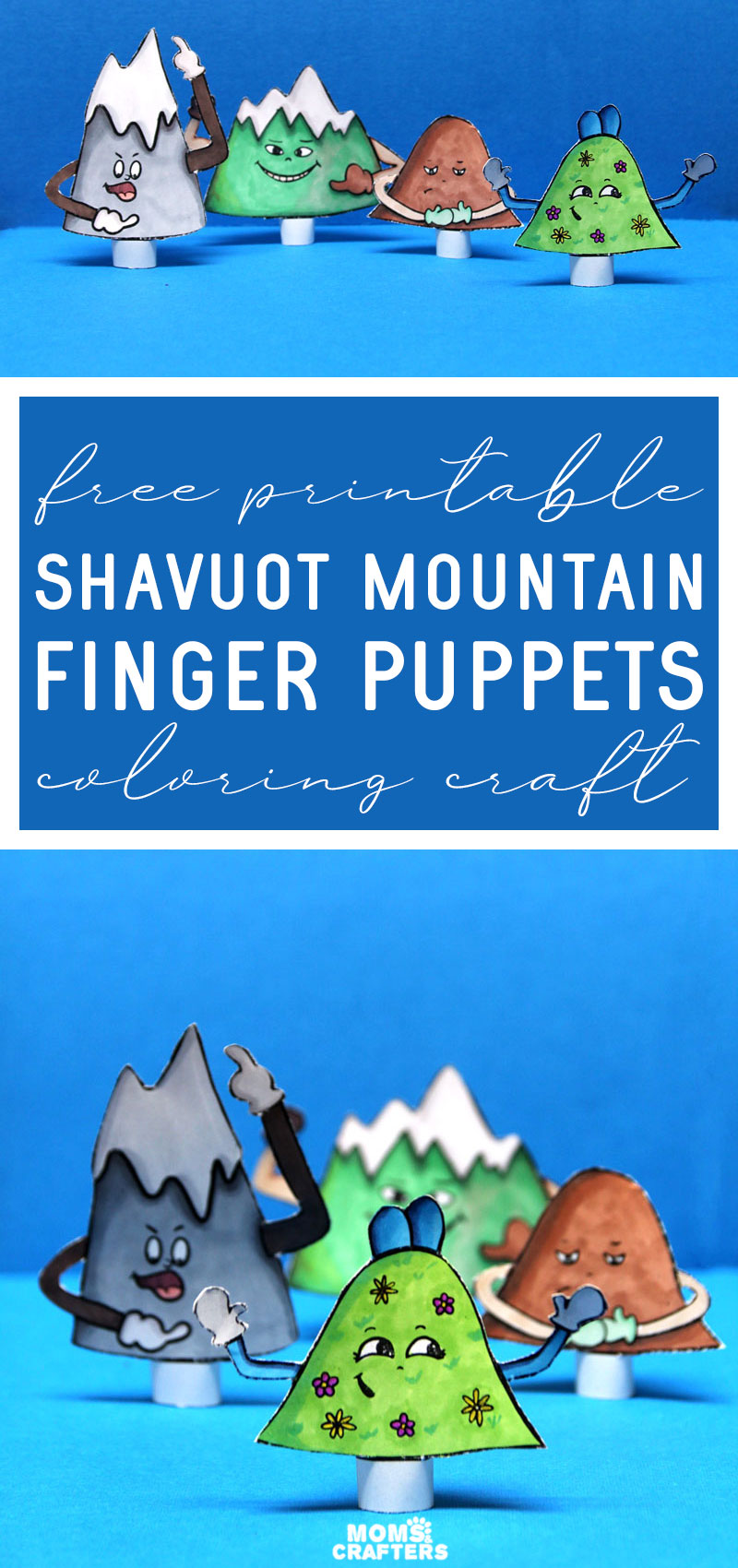 Click to download free printable shavuot puppets including Har sinai and the lesson on being humble! This fun Jewish shavuos craft for kids is great for preschool and toddlers and a fun at home activity or Hebrew school craft.