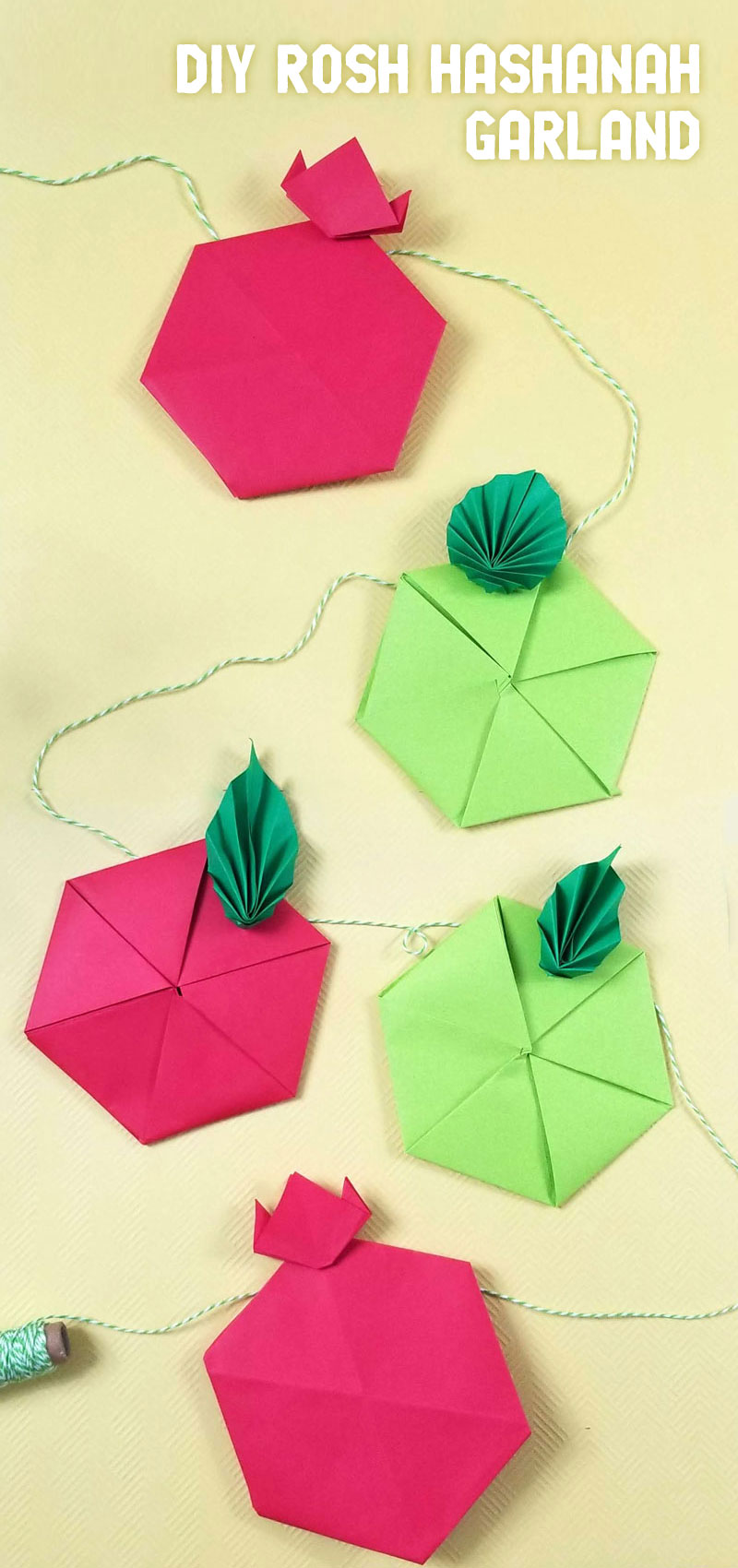 Make your own origami pomegranates and a fun Rosh Hashanah craft for kids and adults! Crafts for the High Holidays and Jewish new year can be hard to come by but this easy paper craft can double as fun home decor for the holidays