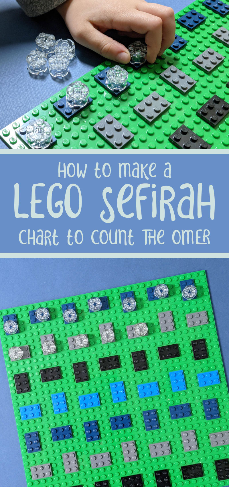 Make a LEGO sefirah chart -a fantastic idea for sefirat haomer and counting the omer! This Jewish lego idea is so easy and fun!